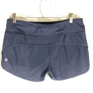 LULULEMON Speed Shorts 2-way stretch Navy Blue 6